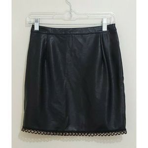Minkpink Embellished Faux Leather Mini Skirt